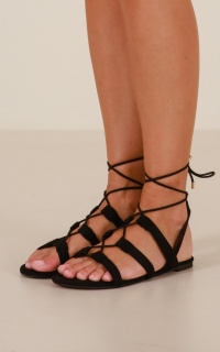 Billini - Daya Sandals in black micro