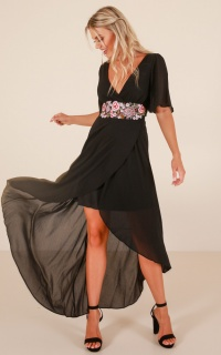 Starlit Nights maxi dress in black