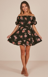 Next Destination dress in black floral