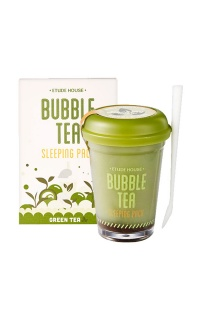 Etude House - Bubble Tea Overnight Gel Mask in green tea