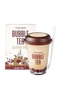 Etude House - Bubble Tea Overnight Gel Mask in black tea