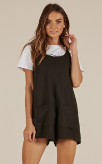 Wave Hello Playsuit In Black