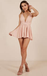 Rising Sun Playsuit In Blush