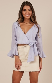 Wonder Lust Top in Blue Stripe