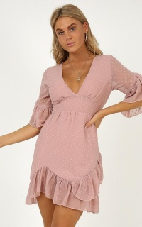 Faded Love Dress In Blush