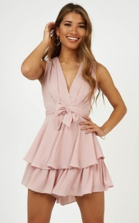 Little League Playsuit In Blush