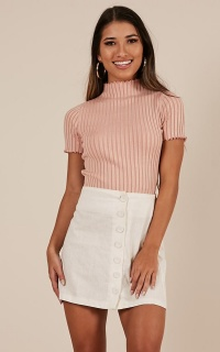 Reverse It Top In Dusty Pink