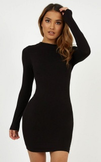 Rough Ride Dress In Black