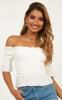 Forever Girl Top In White