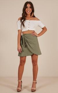 Know Better skirt in khaki