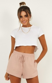 Girl To Look For Shorts In Blush