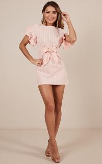 Rockabye dress in blush stripe