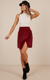 Over The Hill Skirt In Wine