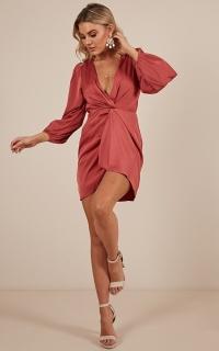 Shake It Up dress in dusty rose