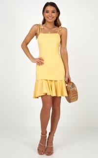 Sweetest Sin Dress In Lemon