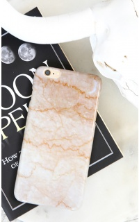 Lightning iphone cover in pink marble - 6 Plus