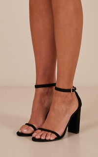 Billini - Jena Heels In Black Micro
