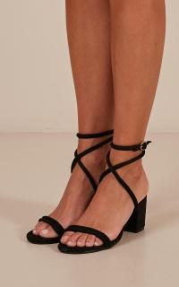 Billini - Calvi Heels In Black Micro