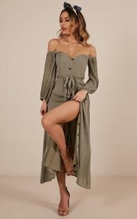 Sorrento Dreaming dress in khaki