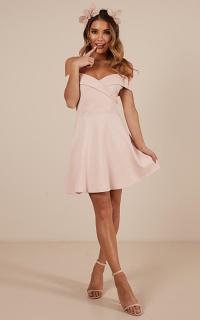Never Let Go Dress in Blush