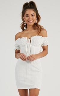 Taking It Slow Dress In White