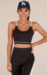 Level Up Crop Top in Black