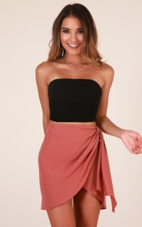 So Cliche skirt in dusty rose