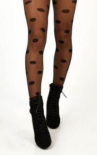 This Time Around Stockings In Black Polkadot