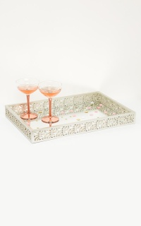 Looking For Fame Mirrored Tray In Champagne