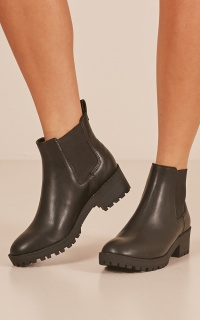 Lipstik - Honesty Boots In Black