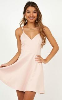 Its Complicated Mini Dress In Blush