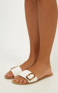 Billini - Casablanca Sandals In White Nubuck