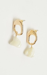 Always Remember Us Earrings In Gold And White