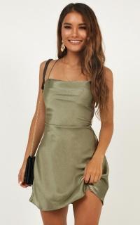 Dress Ups Dress In Sage Satin