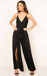 Never Love Me Jumpsuit in black