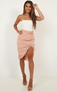 Fearless Girl Skirt In Blush