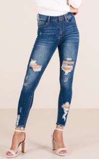 Serena High Waist Skinny Jeans In Dark Wash