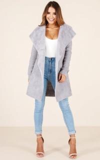 Never Stray coat in grey