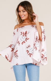 The Same Thing Top In Blush Floral