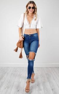 Khloe skinny jeans in dark wash