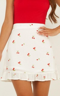 Count On Us Skirt In White Print