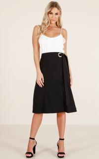 Delightful Midi Skirt In Black