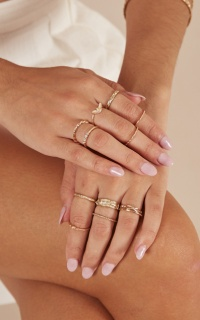 Drift Away 12 pc ring set in gold