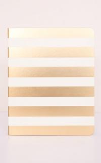 Adored Notebook in gold stripe