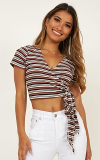 Around Here Top In Multi Stripe