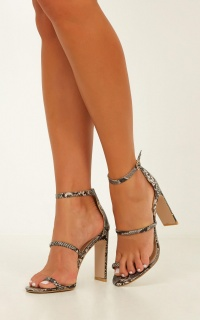 Billini - Daia Heels In Natural Snake