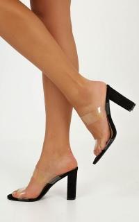 Billini - Giara Heels in Black Micro