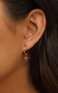 Midsummer Star - Celestial Sleeper Earrings In Rose Gold