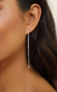 Midsummer Star - Celestial Threader Earrings In Silver
