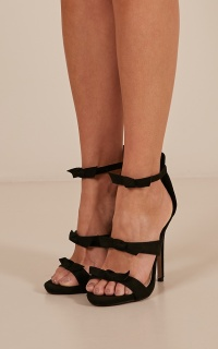 Billini - Diani heels in black micro